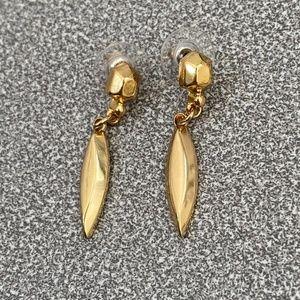 NWOT Baublebar Gold Drop Earrings